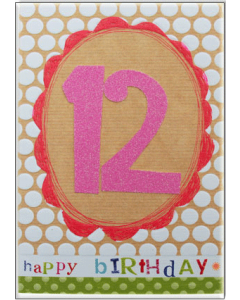 '12 Happy Birthday' Card