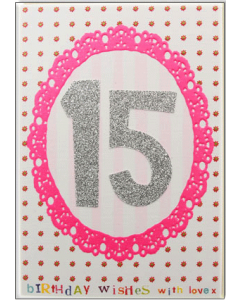 '15 Birthday Wishes' Card