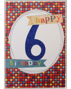 '6 Happy Birthday' Card