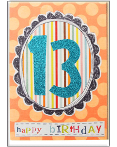 '13 Happy Birthday' Card