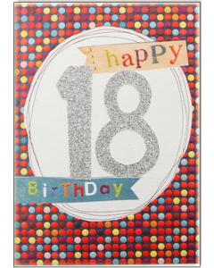 '18 Happy Birthday' Card