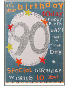 '90 It's Your Birthday Today' Card