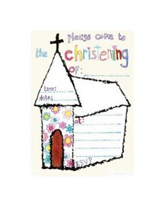 Please Come To My Christening Invitations (Pack of 8)