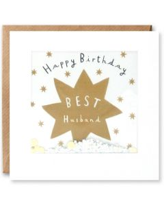 'Happy Birthday Best Husband' Card