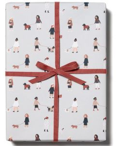 Folded Wrapping Paper - Dog Walkers