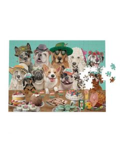 1000 piece Jigsaw Puzzle - 'Canine Cuties' - dressed up dogs and feast