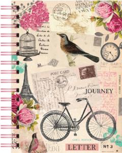 Spiral Bound Vintage Travel Journal