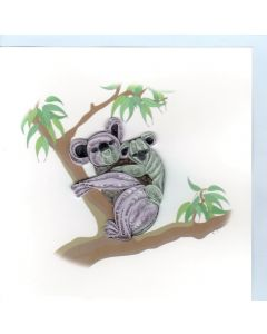 Quilling Card - Koalas