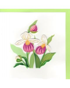 Quilling Card - Orchids