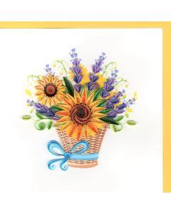 Quilling Card - Sunflower Basket