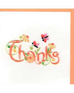 Quilling Card - Thanks