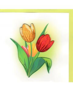 Quilling Card - Tulips