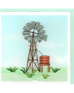 Quilling Card - Windmill