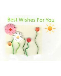 Mini card - Quilling - Best Wishes