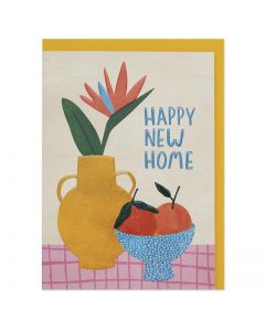 NEW HOME Card - Fruit Bowl & Vase