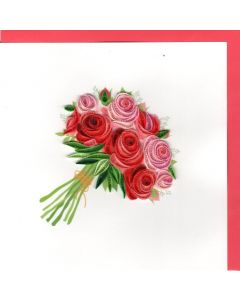 Quilling Card - Bunch of Roses