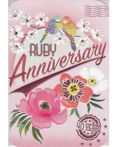 'Ruby Anniversary' Card