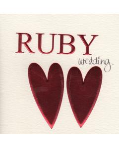 'Ruby Wedding' Card