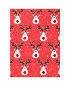 Rudolph with red foil nose Christmas wrapping paper