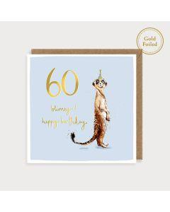 AGE 60 Card - Blimey!