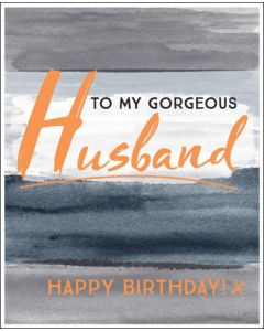 HUSBAND Birthday Card - Gorgeous Husband