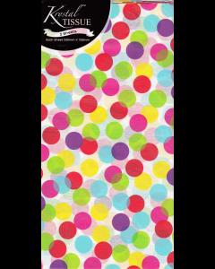 Rainbow Dots Tissue Pack