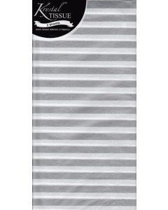 Silver and White Stripes Tissue Pack