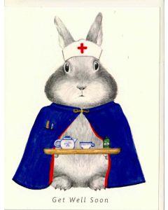 Get Well soon - Bunny nurse