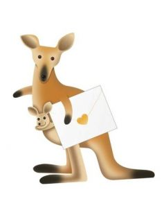 3D Greeting Card - Kangaroos