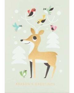 Deer & Birds Christmas Card