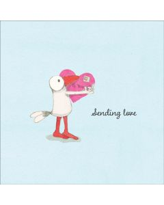 Sending Love - Bird with Heart