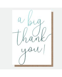 THANK  YOU Card - A Big Thank You