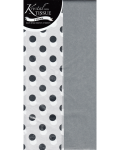 Tissue Paper - Silver & White Dots (2 sheets)