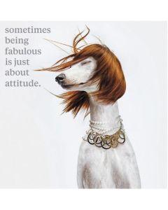 'Being Fabulous' Greeting Card