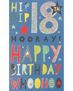 18th Birthday - 'Hip hip hooray...'