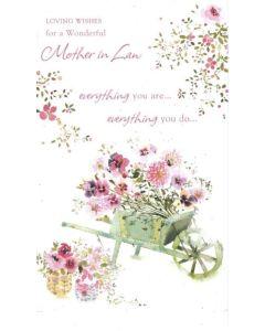 Mother-in-Law Birthday - Floral Wheelbarrow