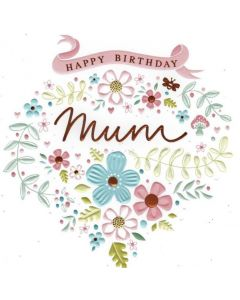MUM Birthday - Flowers with Copper Foil