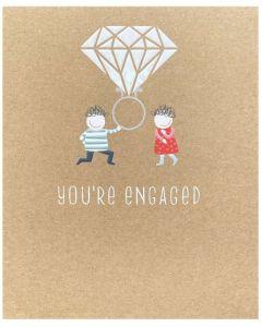 ENGAGEMENT Card - Huge Diamond Ring