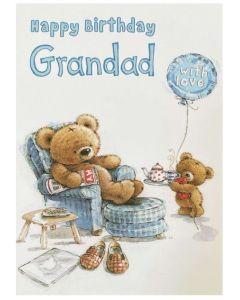 Grandad card - Bear in blue chair