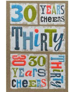 30th Birthday - '30 Years Cheers'