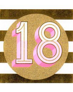 AGE 18 - Gold Glitter Circle