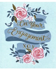 ENGAGEMENT Card - Pink Roses