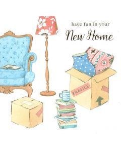 NEW HOME Card - Packing Boxes