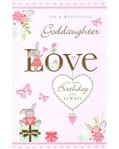Goddaughter Birthday - Bunnies & Presents