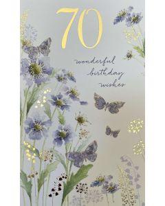 AGE 70 - Mauve flowers & butterflies
