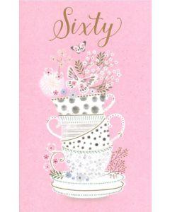 60th Birthday - Teacups & Butterflies
