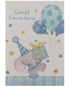 Great-Grandson - Elephant with balloons