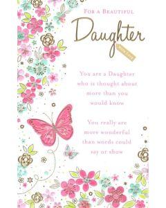 Daughter Birthday - Butterflies & Flowers