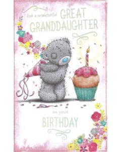 Great-Granddaughter Birthday - Bear & Cupcake