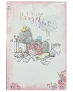 Baby Shower - Teddy with talc, duck & rattle